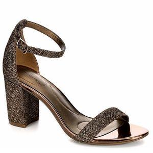 Bandolino Armory Block Heels Glitter Bronze 7